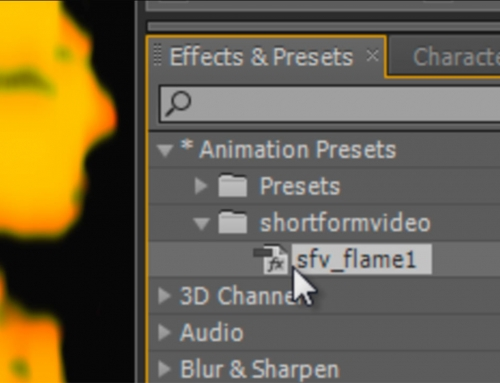 After Effects Quick Tip – Creating custom animation presets