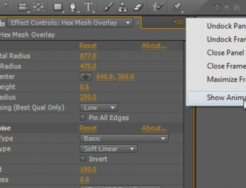 After Effects Tip – Missing animation presets