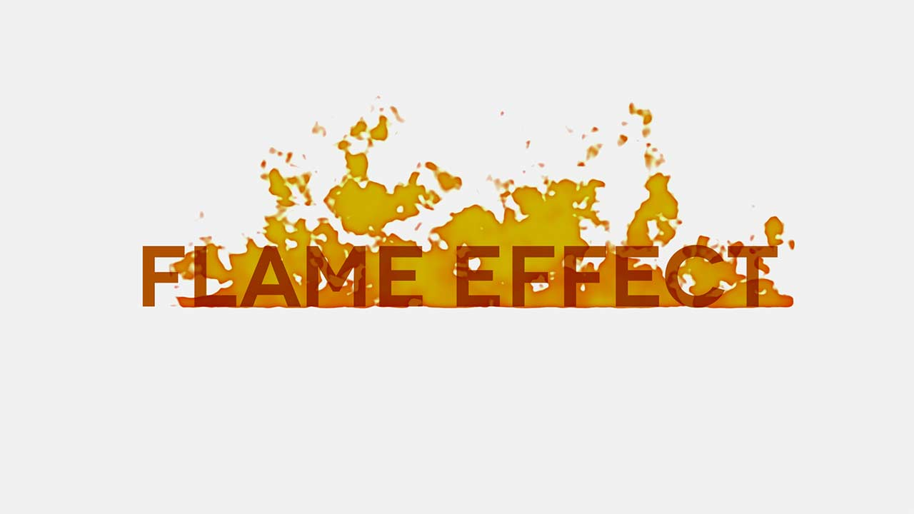 After Effects Tutorial - Plugin-Free Fire / Flame Effect - short